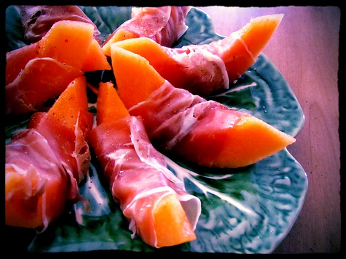 Proscuitto Wrapped Melon (Indiglow) | by lynn.gardner