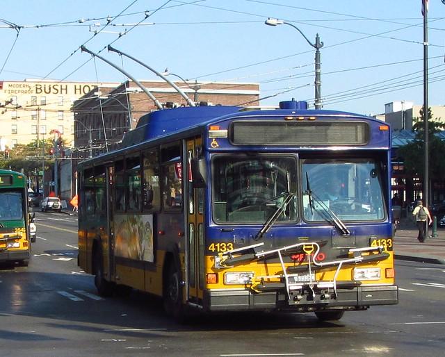 King County Metro 2001 Gillig Phantom Trolley 4133