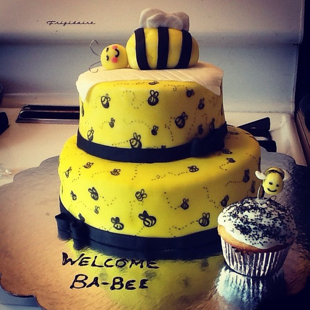 bumble bee baby shower cake flickr photo sharing