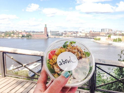 food stockholm, july 2016 - a bowl poke poke with a view at monteliusvägen | by piaktw