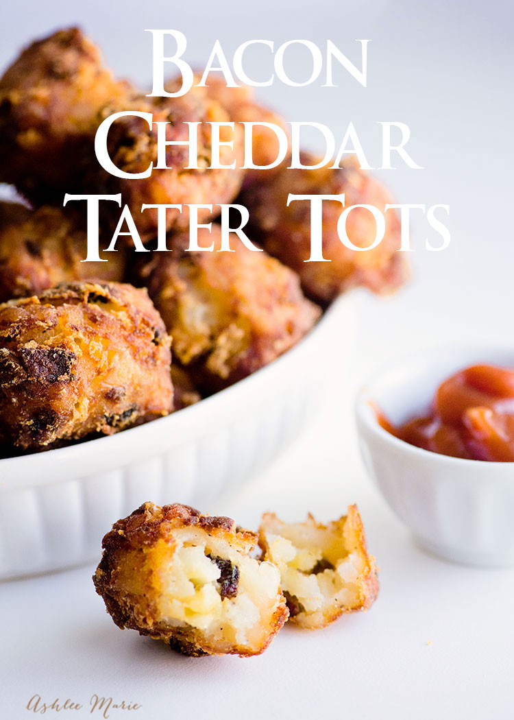 homemade tater tots are easy to make and fun fill with flavors like bacon and cheddar