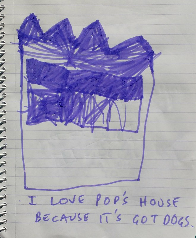 albie may drawing of pops house