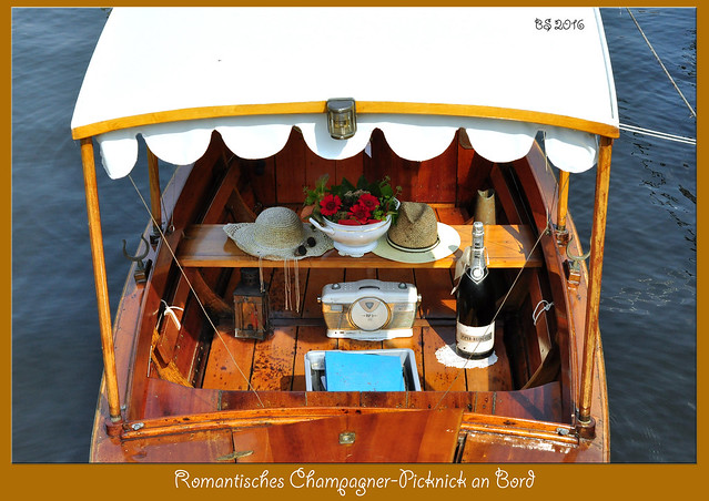 Romantisches Champagner-Picknick an Bord - Foto: Brigitte Stolle, September 2016