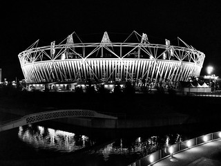 London 2012 Olympic Stadium at Night | by atmoorehead