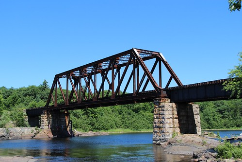Mississagi River Railroad Bridge | Pratt through truss ... Pacific Railway Company
