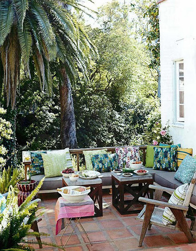 outdoor spaces with an ethnic touch | by the style files