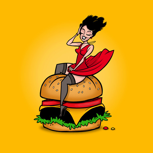 Babe Riding a Cheeseburger | by jublin