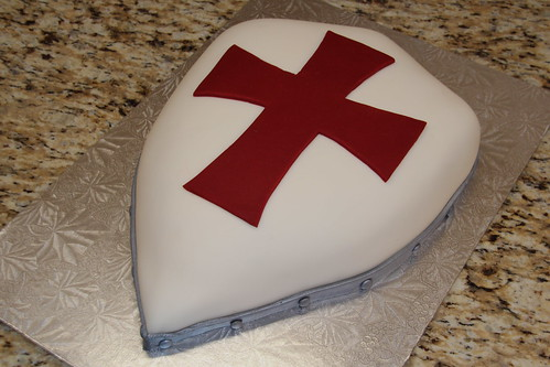 Knight Shield Birthday Cake