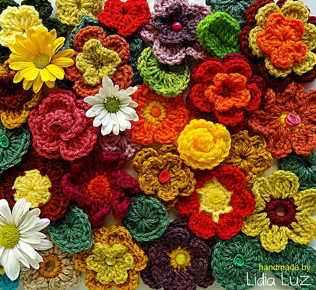 Manh?s de setembro, flores de croch? Flickr - Photo Sharing!