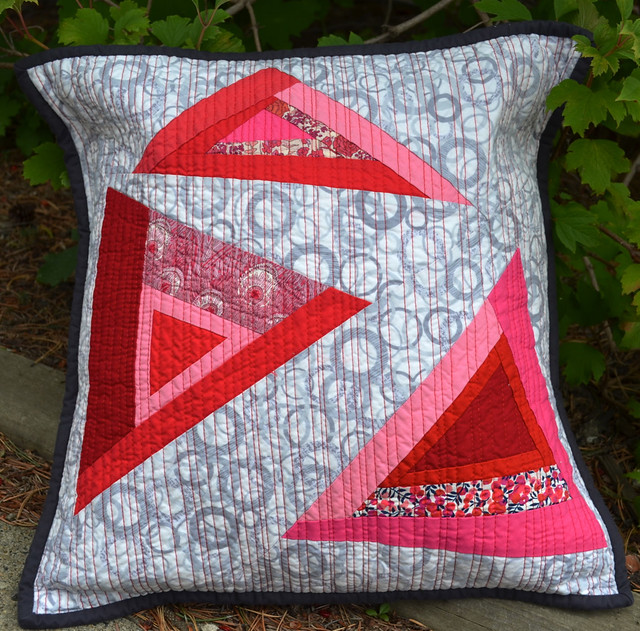 Angles - for the Modern Quilted Pillow Swap Flickr - Photo Sharing!