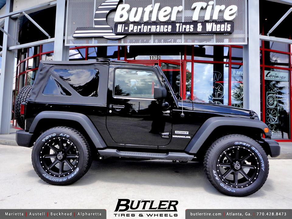 Jeep Wrangler With White Rims >> Jeep Wrangler with 20in Black Rhino Moab Wheels | Additional… | Flickr