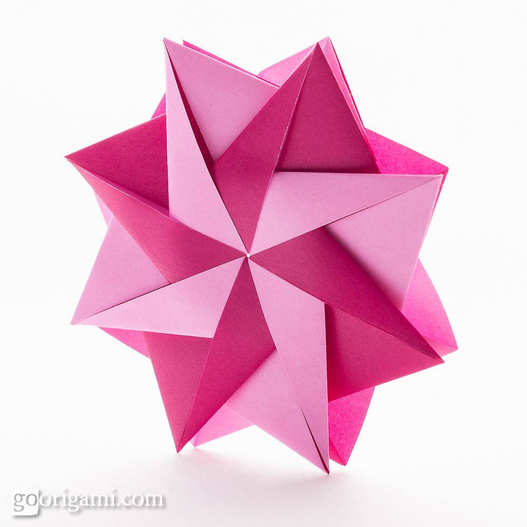 Поделки модульное оригами на 9 мая