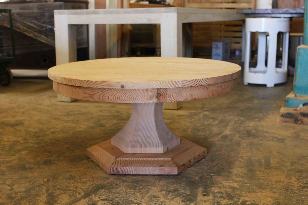 Reclaimed Wood Round Coffee Table M T Custom In 1989 We