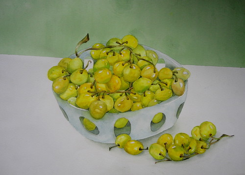 Green grapes, by Suzana and me (4 hands) | by Dona Minúcia