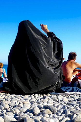 Burqa on the beach | by Paul J White