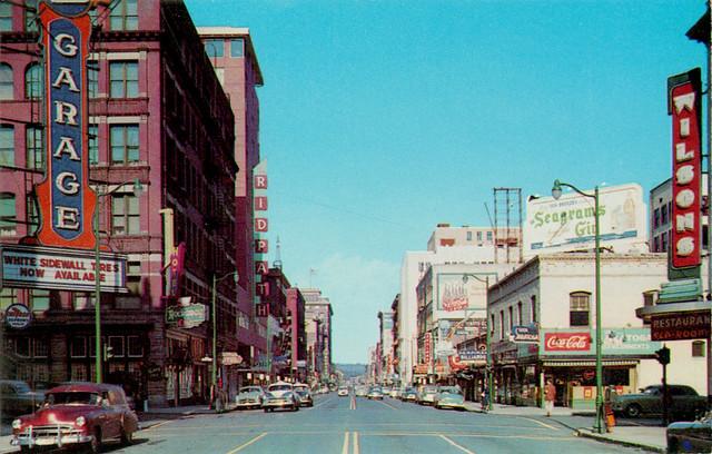 sprague street spokane washington 1950s