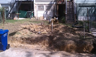 Backyard excavated for wall | by whiteknuckled
