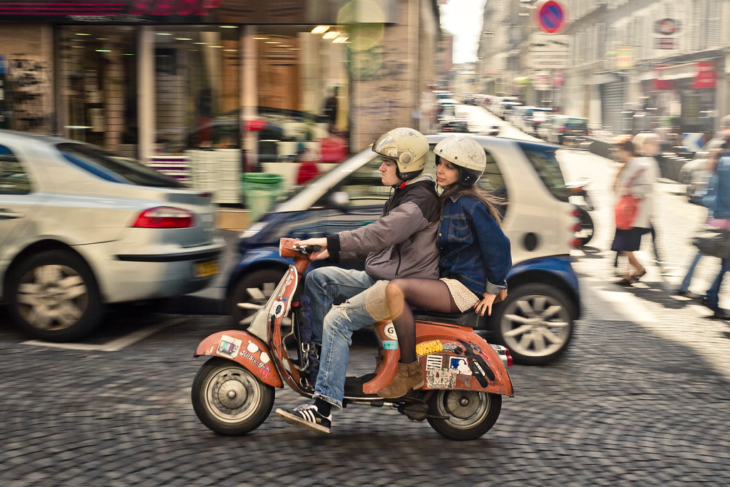 vespa couple follow my travels at mixshakestir tumblr com
