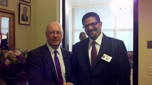 UK Minister Burt meets with Tunisian Foreign Minister Rafik Abdessalem, at the UN General Assembly | by UK UN, New York