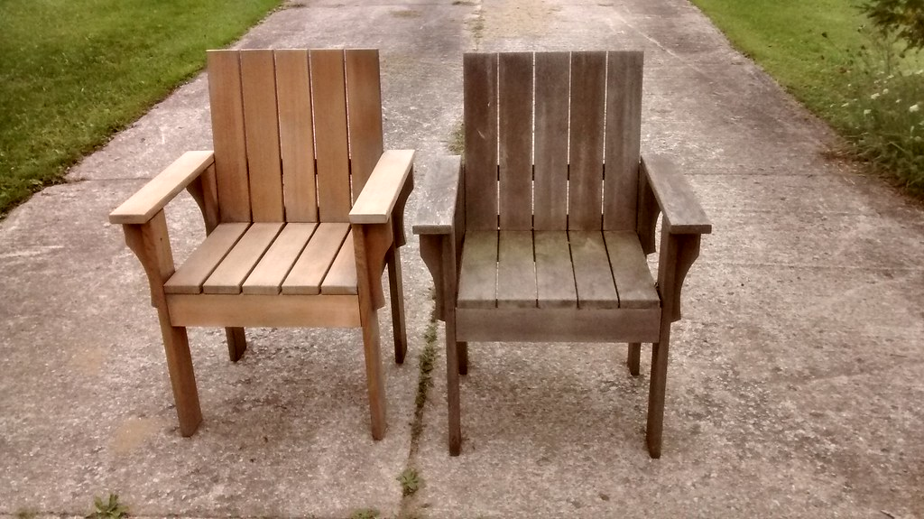 ... Cedar Chairs Before And After Sanding | By Rgdaniel
