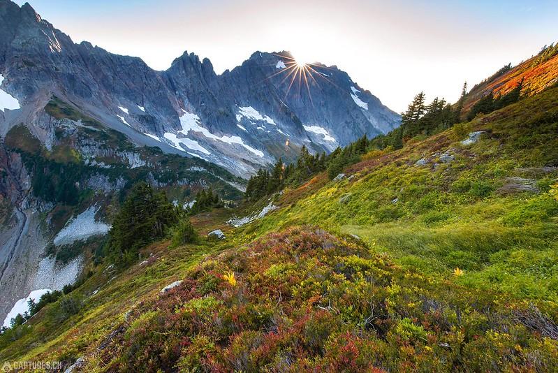 Sunset at the Cascade Pass - North Cascades National Park