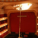 Conservation of the frieze above the proscenium arch in the auditorium. ©ROH Collections 2012