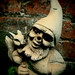 Nan's no nose gnome in his new home..