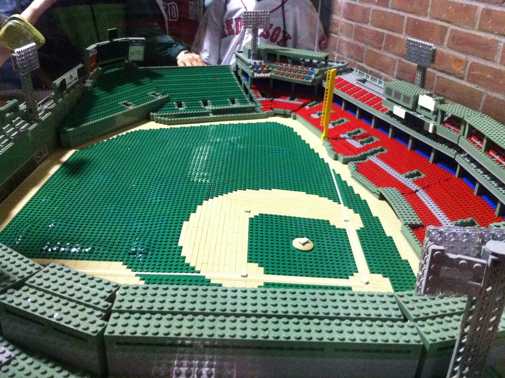 Lego Scale Model Of Fenway Park Complete With Green Monst Flickr