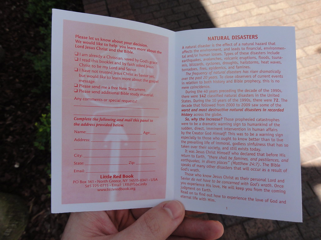 Inside Westboro Baptist Church pamphlet | It claims God send… | Flickr