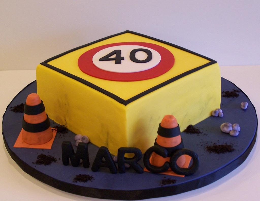 Traffic Sign And Construction Site Cake Beth Flickr