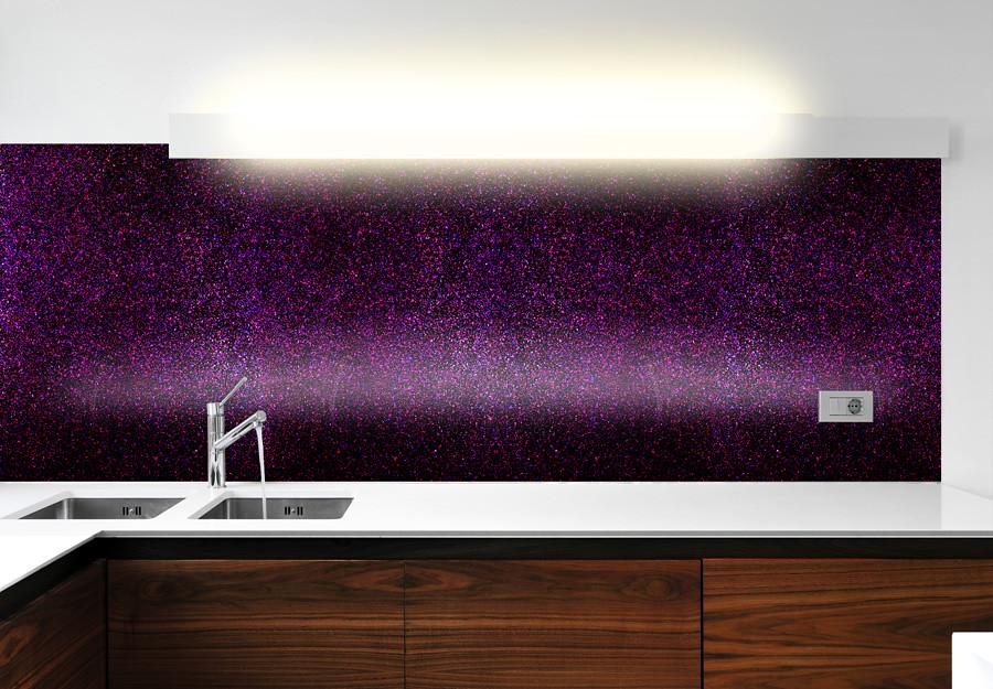 Luxury Collection Purple Haze 625 Shimmer Glass Kitchen Sp