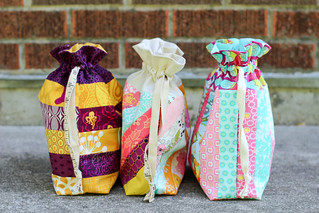 Striped Drawstring Bags | by Jeni Baker | In Color Order
