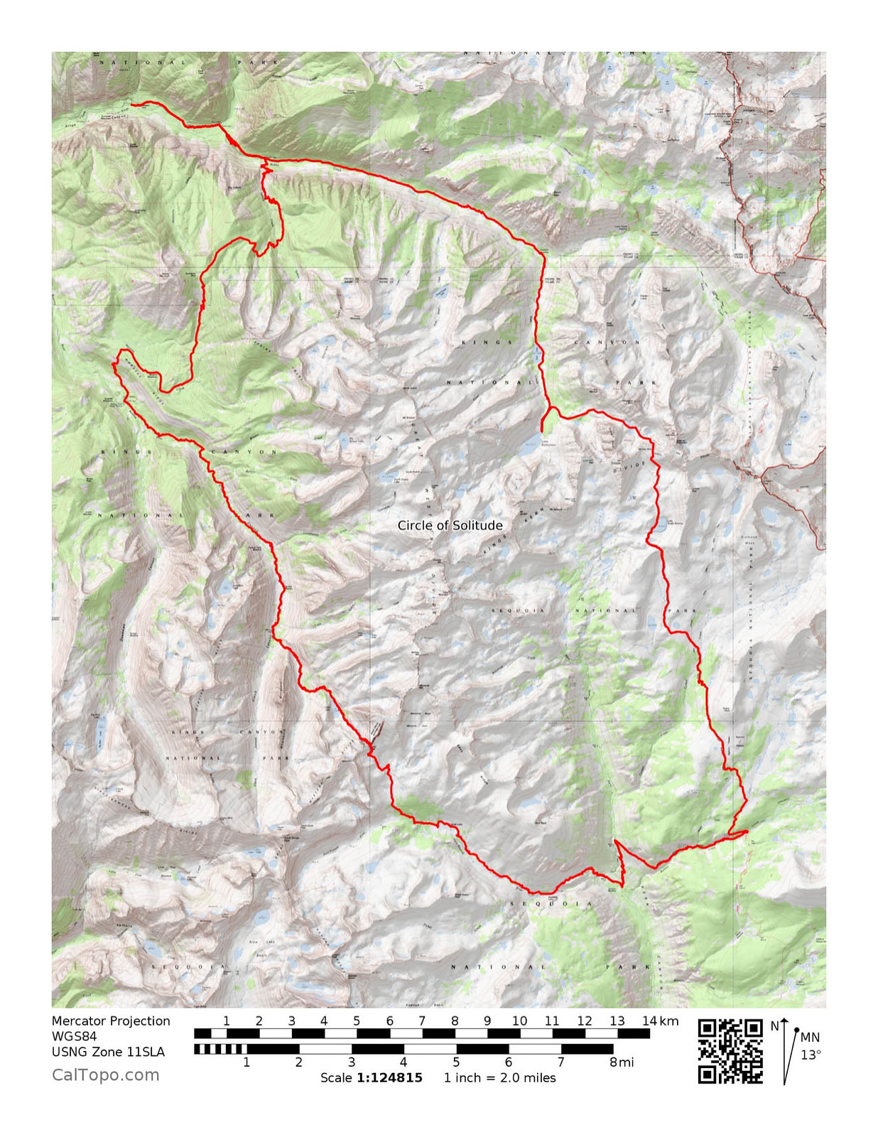 Circle of Solitude Route