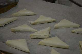 phyllo appetizers before being baked | by myhalalkitchen3