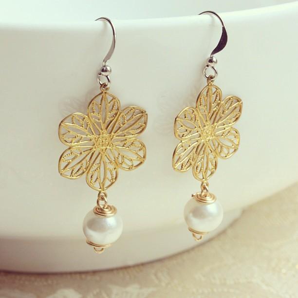 Handmade Pearl Earrings Designs Pearl Earrings Handmade