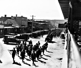 March with band in Crawford Street, Queanbeyan, 1921. | by National Archives of Australia
