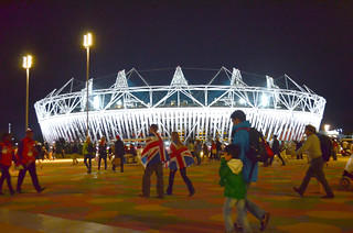 Olympic Park at night | by grannie annie taggs