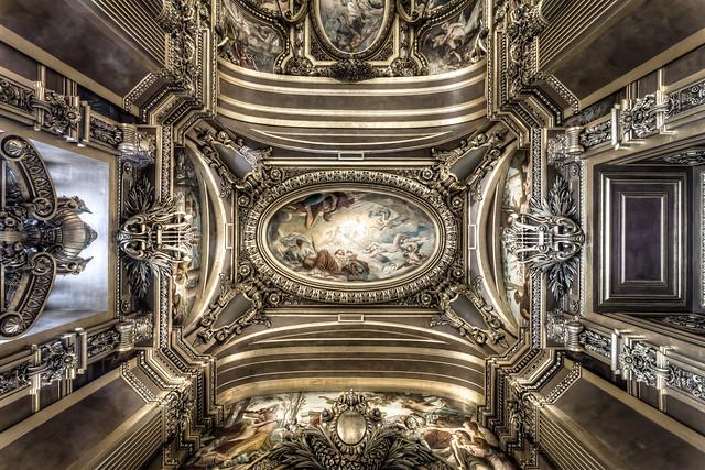The Grand Foyer Palais Garnier : Le palais garnier paris opera house ceiling of the