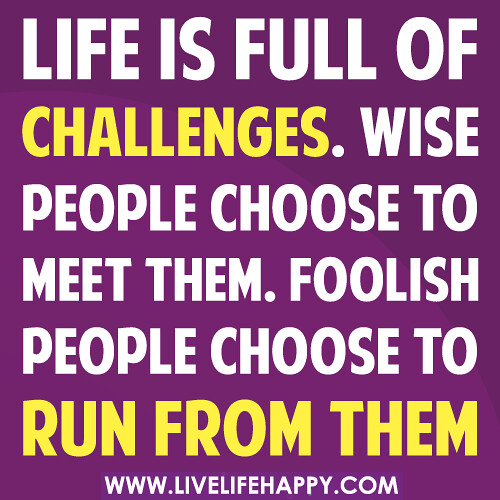Life Challenges Quotes Images: Life Is Full Of Challenges. Wise People Choose To Meet The