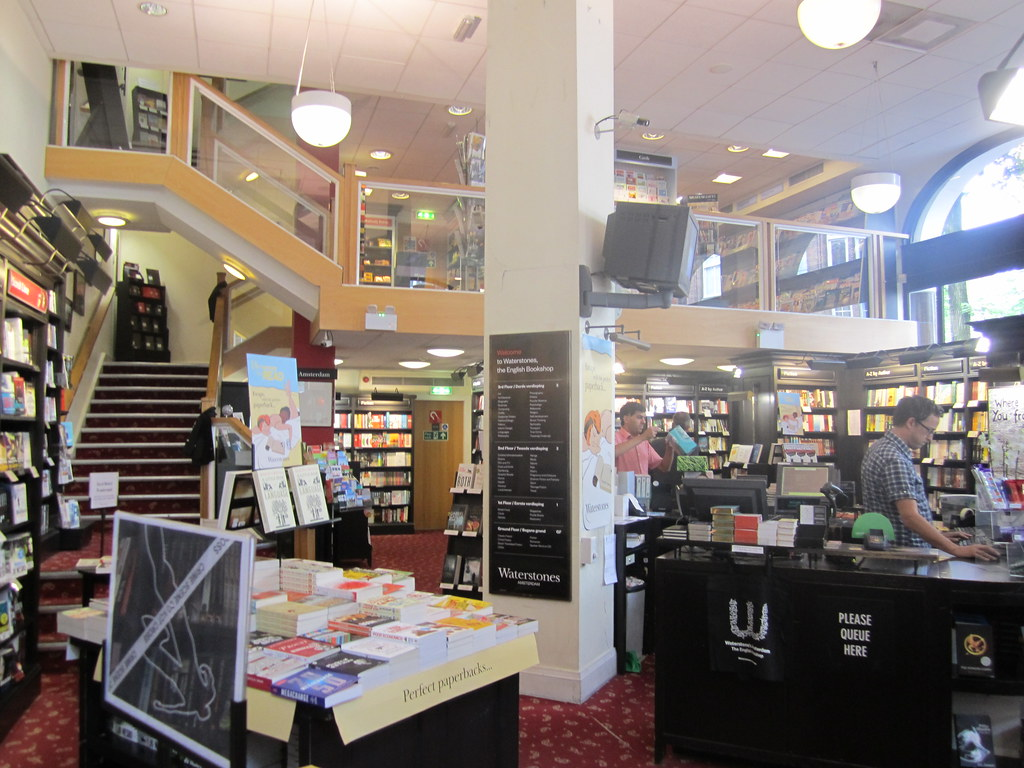Waterstones English Bookshop in Amsterdam libreria