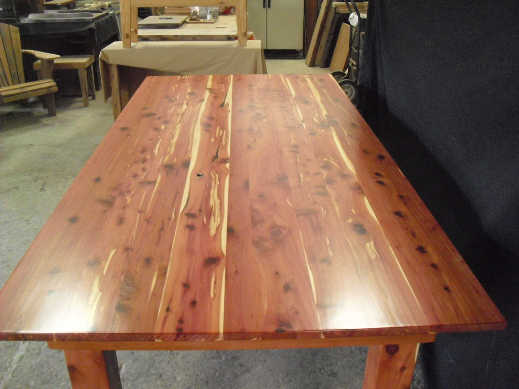 Red Cedar Dining Table- www.OldGrowthRiverwood.com | Flickr