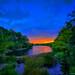 Sunset-at-Small-Lake-in-Jupiter-Florida
