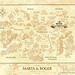 Wedding Invitation for Marta & Roger_Medieval Map