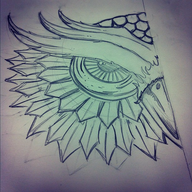 Owl started sketch for a new design owl drawing sketc for Owl beak drawing