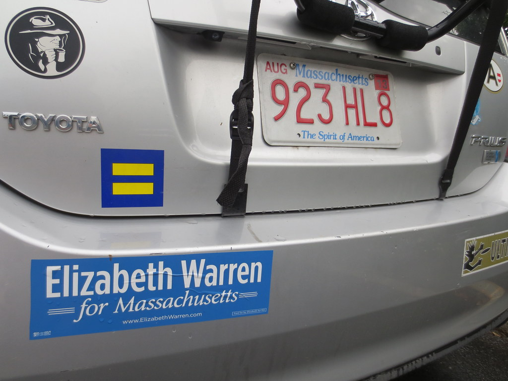 Hrc Human Rights Campaign Sticker Elizabeth Warren For Ma