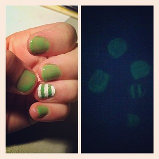 Glow-in-the-dark nails are pretty much awesome. #nails #glow #instacollage | by laurenichole89