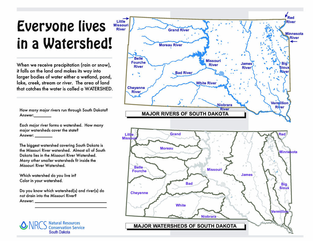 Uncategorized Watershed Worksheet conservation education flickr