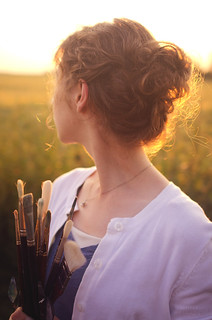 Artist at Sunset | by Simply Vintagegirl