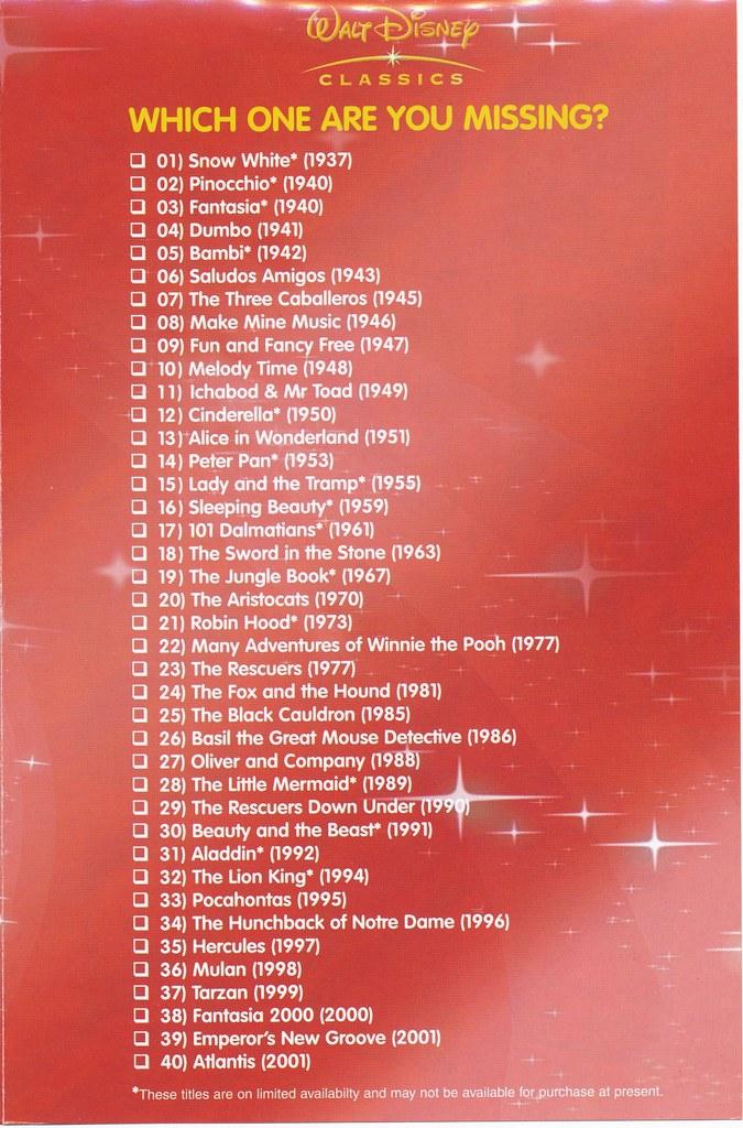 disney dvd uk insert catalogue 2003 dvd insert for the li flickr