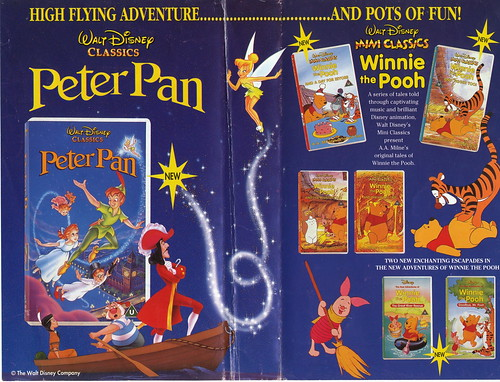 Peter pan uk vhs 1993 inside cover interior jacket for for Classic house songs 2000